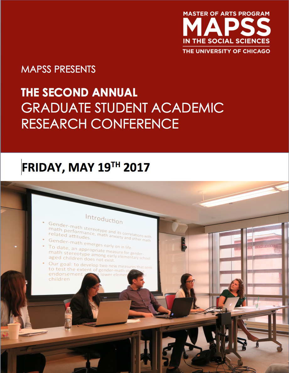 MAPSS Academic Research Conference MAPSS The University Of Chicago - Chicago mapss