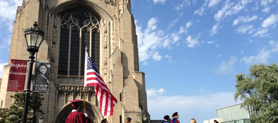 Rockefeller Chapel During Graduation Ceremonies