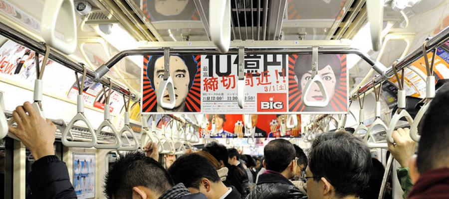Tokyo Subway at Rush Hour, Photo by Tim Adams